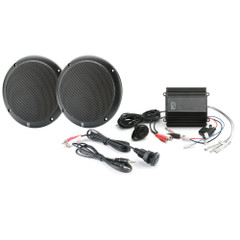 PolyPlanar MP3-KIT-AB MP3 Input\/Speaker\/Amp Kit - Black [MP3-KIT-AB]