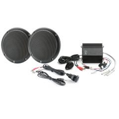 PolyPlanar MP3-KIT-AB MP3 Input\/Speaker\/Amp Kit - Black [MP3-KIT-AB]