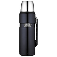 Thermos Stainless King Vacuum Insulated Beverage Bottle - 40 oz. - Stainless Steel\/Midnight Blue [SK2010MBTRI4]