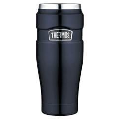 Thermos Stainless King Vacuum Insulated Travel Tumbler - 16 oz. - Stainless Steel\/Midnight Blue [SK1005MBTRI4]