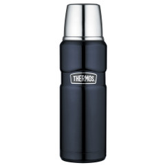 Thermos Stainless King Vacuum Insulated Beverage Bottle - 16 oz. - Stainless Steel\/Midnight Blue [SK2000MBTRI4]