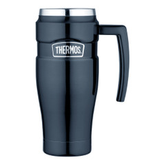 Thermos Stainless King Vacuum Insulated Travel Mug - 16 oz. - Stainless Steel\/Midnight Blue [SK1000MBTRI4]