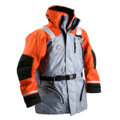 First Watch AC-1100 Flotation Coat - Orange\/Grey - Large [AC-1100-OG-L]