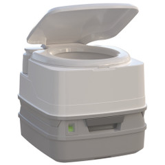 Thetford Porta Potti 260P MSD Marine Toilet with Piston Pump, Level Indicator, and Hold-Down Kit [92868]