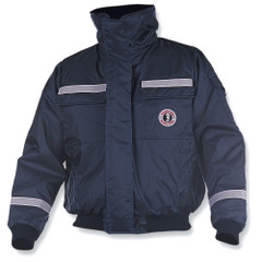 Mustang Classic Bomber Jacket w\/SOLAS Reflective Tape - Large - Navy [MJ6214T1-L-NV]