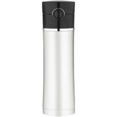 Thermos Sipp Vacuum Insulated Drink Bottle - 16 oz. - Stainless Steel\/Black [NS402BK4]