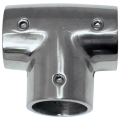 "Whitecap "" O.D. 90 Degree SS Tee Fitting [6043C]"