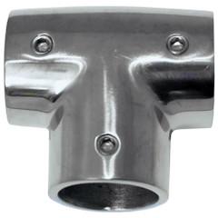 "Whitecap 1"" O.D. 90 Degree SS Tee Rail Fitting [6143C]"
