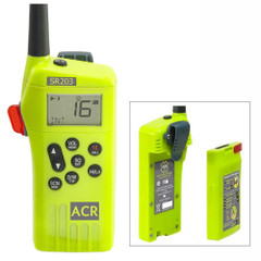 ACR SR203 GMDSS Survival Radio w\/Replaceable Lithium Battery & Rechargable Lithium Polymer Battery & Charger [2828]