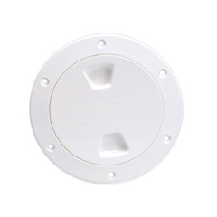 "Beckson 4"" Smooth Center Screw-Out Deck Plate - White [DP40-W]"