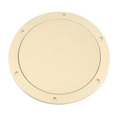 "Beckson 6"" Non-Skid Screw-Out Deck Plate - Beige [DP62-N]"