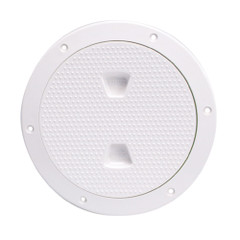 "Beckson 6"" Non-Skid Screw-Out Deck Plate - White [DP62-W]"