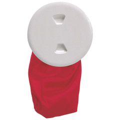 "Beckson 5"" Stow-Away Deck Plate - White w\/12"" Bag [DP50BW]"