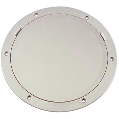 "Beckson 8"" Smooth Center Pry-Out Deck Plate - White [DP81-W]"