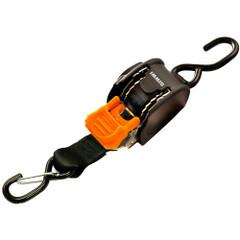 "CargoBuckle Mini G3 Retractable Tie-Down w\/ Dual S-Hooks 1"" x 72"" [F111640]"