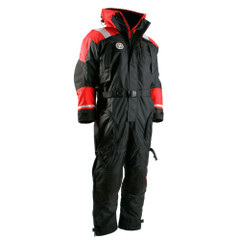 First Watch Anti-Exposure Suit - Black\/Red - Small [AS-1100-RB-S]