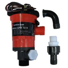 Johnson Pump Twin Port 1000 GPH Livewell Aerating Pump - 12V [48903]