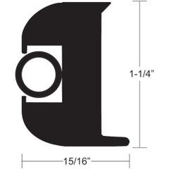 """TACO Flex Vinyl Rub Rail Kit - Black w\/Black Insert - 70' - 1-1\/4"""" x 15\/16"""" [V11-3447BBK70-2]"""