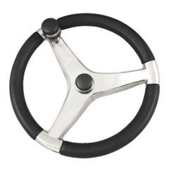 "Ongaro Evo Pro 316 Cast Stainless Steel Steering Wheel w\/Control Knob - 13.5"" Diameter [7241321FGK]"
