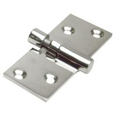 """Whitecap Take-Apart Motor Box Hinge (Locking) - 316 Stainless Steel - 1-1\/2"""" x 3-5\/8"""" [6018C]"""