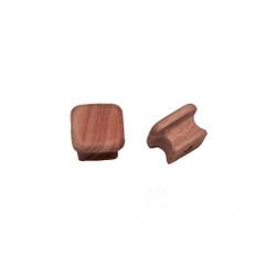 """Whitecap Teak Square Drawer Knob - 1-1\/8"""" - 2 Pack [60130-A]"""