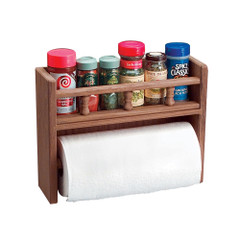 Whitecap Teak Paper Towel Holder w\/Spice Rack [62446]