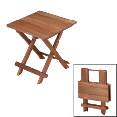 Whitecap Teak Solid Top Fold Away Table [60031]
