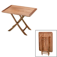 Whitecap Teak Large Adjustable Slat Top Table [60029]