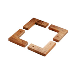 Whitecap Teak Cooler\/Box Chocks - 4 Pack [60329]