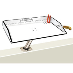 "Magma Bait\/Filet Mate Table w\/LeveLock Mount - 20"" - White\/Black [T10-312B]"
