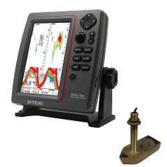 SI-TEX SVS-760 Dual Frequency Sounder 600W Kit w\/Bronze Thru-Hull Temp Transducer - 307\/50\/200T-CX [SVS-760TH1]