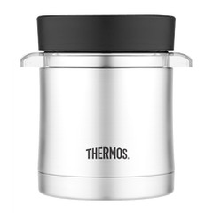 Thermos Vacuum Insulated Food Jar w\/Microwavable Container - 12 oz. - Stainless Steel [TS3200TRI6]