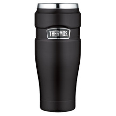 Thermos Stainless King Vacuum Insulated Travel Tumbler - 16 oz. - Stainless Steel\/Matte Black [SK1005BKTRI4]
