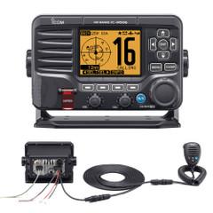 Icom M506 VHF Fixed Mount w\/Rear Mic, AIS & NMEA 0183\/2000 - Black [M506 41]