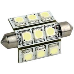 Lunasea Pointed Festoon 9 LED Light Bulb - 42mm - Cool White [LLB-189C-21-00]