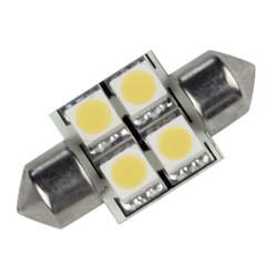 Lunasea Pointed Festoon 4 LED Light Bulb - 31mm - Cool White [LLB-202C-21-00]