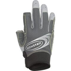 Ronstan Sticky Race Gloves w\/3 Full & 2 Cut Fingers - Grey - X-Small [RF4881XS]