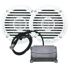 """JENSEN CPM50 Bluetooth Amplifier Package w\/JAHD240BT 80W, 2-Channel Bluetooth Amplifier & MS5006 5"""" Speakers [CPM50]"""