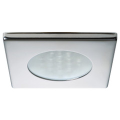 Quick Bryan C Downlight LED -  2W, IP66, Spring Mounted w\/ Touch Switch - Square Stainless Bezel, Round Warm White Light [FAMP3482X02CA00]
