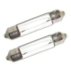 Perko Double Ended Festoon Bulbs - 12V, 10W, .74A - Pair [0070DP0CLR]