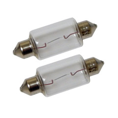 Perko Double Ended Festoon Bulbs - 12V, 15W, .97A - Pair [0070DP1CLR]