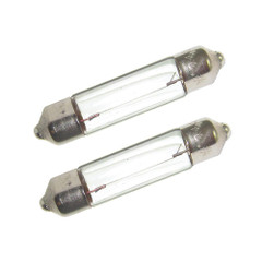 Perko Double Ended Festoon Bulbs - 12V, 10W, .80A - Pair [0071DP0CLR]
