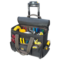 "CLC Tech Gear 17 Pocket - Light Handle 17"" Roller Bag [L258]"