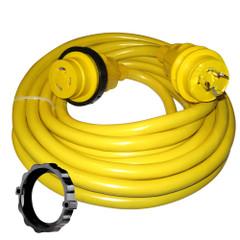 Marinco 30 Amp Power Cord Plus Cordset - 35' - Yellow [35SPP]