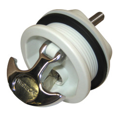 Whitecap T-Handle Latch - Chrome Plated Zamac\/White Nylon - Locking - Freshwater Use Only [S-226WC]