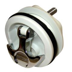 Whitecap T-Handle Latch - Chrome Plated Zamac\/White Nylon - No Lock - Freshwater Use Only [S-230WC]