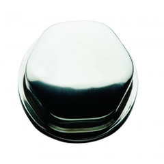 "Schmitt Faux Center Nut - Stainless Steel - 1\/2""&3\/4"" Base Included - For Cast Steering Wheels [CAP0303]"