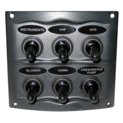 Marinco Waterproof Panel - 6 Switches - Grey [900-6WP]