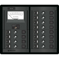 Blue Sea 1464 12 Position Switch CLB + Meter Square [1464]