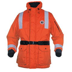Mustang ThermoSystem Plus Coat - MED - Orange\/Black [MC1534GS-M-OR]